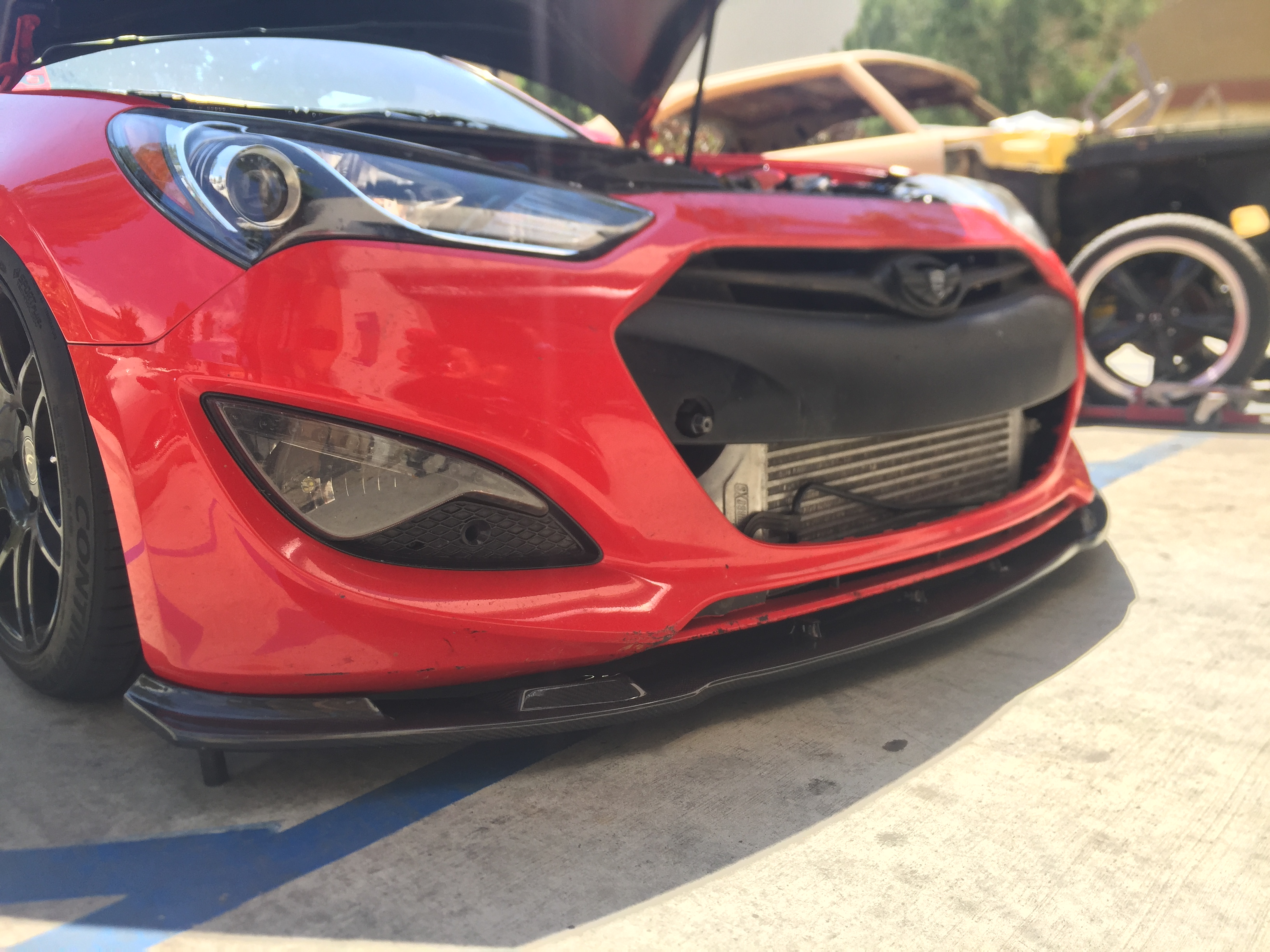 Home genesis coupe exterior lip kits myride carbon fiber front lip 2013 2016 genesis coupe