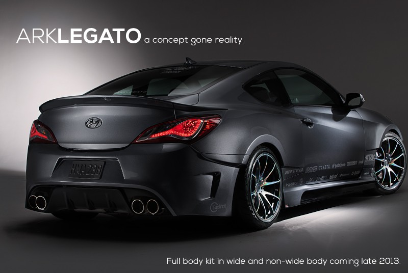 ark s fx legato rear wide body kit genesis coupe 2010 2013. Black Bedroom Furniture Sets. Home Design Ideas