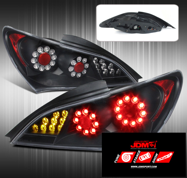 Jdm Sport Full Led Replacement Tail Lights Black