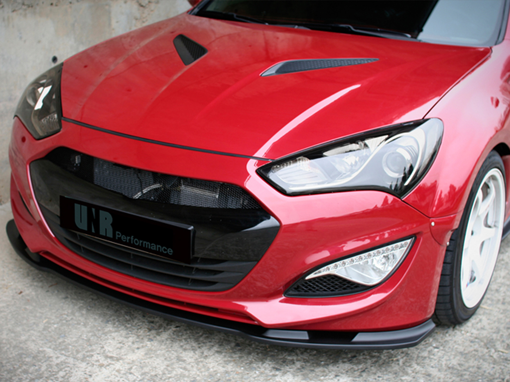 Home genesis coupe exterior front bumpers and lips unr fiberglass front lip genesis coupe 2013 2015