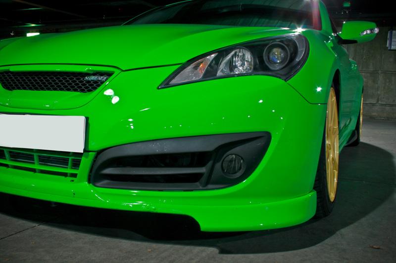 Genesis Coupe Sequence Version 2 Fog Light Bezels In Matte